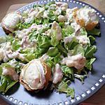 recette Salade carbonara de chévre chaud