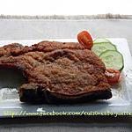 recette Côtes de porc frit aux cinq épice