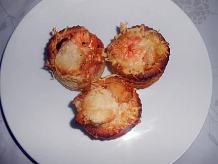 Bouchées de fruits de mer sauce crevettes 430