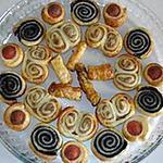 recette Palmiers, roulés & tourniquets salés