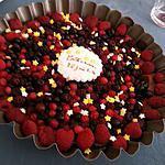 """recette Cheesecake """"bonne conscience"""" aux fruits rouges"""