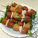 recette brochettes de saucisses
