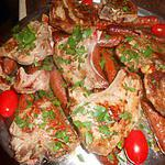 recette Cotes d agneau et merguez grillées aux herbes de provence