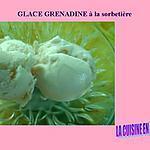 recette Glace au sirop de grenadine