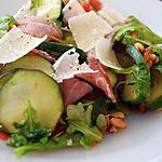 recette salade de courgettes ,roquette et jambon cru
