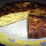 recette TORTILLA DE  POMMES DE TERRE ET OIGNONS