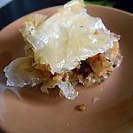 recette Baklawa noix et poires