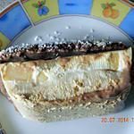 recette Bûche Panna Cota au poire et petits beurre