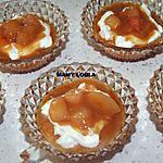 recette Pêches et Mascarpone au caramel salé