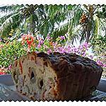 recette Cake lardons, olives et poivrons rouges