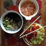 recette Tartare de saumon pour sushi