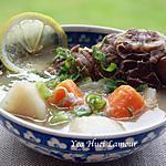 recette Soupe aux légumes avec tête de poisson et  agneau ragoût