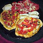 recette tartelettes tomates  courgettes basilic