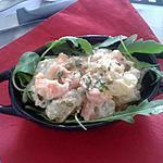 recette salade de pommes de terre au saumon fumé et feuilles de roquette