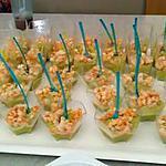 verrines avocat crevettes
