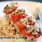 recette Saumon aux tomates en croûte de parmesan