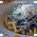 recette Macaronis champignons, courgettes et parmesan (WW)