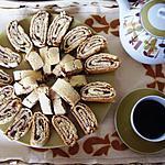 biscuits roulés à la confiture