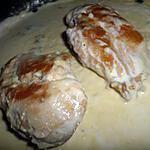 recette Escalopes de poulet à la créme de saint agur