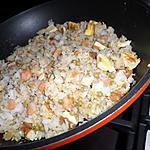 recette Riz cantonnais au crevettes