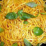 recette Linguines au safran et basilic