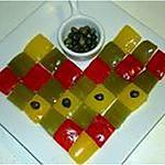 recette Damier de poivrons