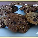 recette Cookies aux pralins et pépites de chocolat.