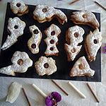 recette biscuit au 3 parfums , caramel au beurre salé ,confiture et nutella.