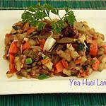 recette Pomme de terre  avec moutarde chinoise vinaigré sauté aux des épices
