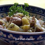 recette poulet à la sauce de fruit (mirabelle et kiwi) avec du miel
