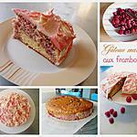 Gâteau marbré aux framboises