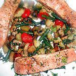 recette Pavés de saumon poelée parisienne
