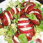 recette Tomates noires de crimée a la mozzarella