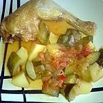 recette ma ratatouille au poulet(basé sur la recette de mamyloula)