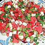 recette Salade de pasteque a la feta