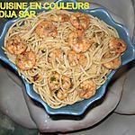 recette Spaghettis aux crevettes