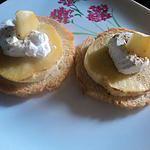 recette toast pomme chevre