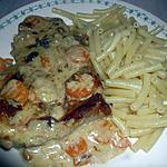 recette cote de porc sauce cremeuse aux légumes