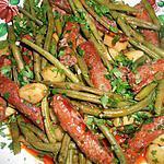 recette Haricots vert aux merguez