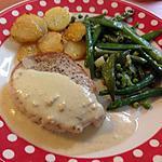 recette Médaillons de porc sauce moutarde, légumes verts et pommes de terre rissolées