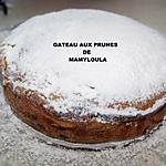 recette Gâteau aux prunes et au fromage blanc