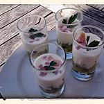 recette Verrine de concombre au fromage blanc au thermomix ou sans