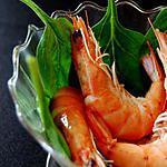recette Salade de pousses aux crevettes