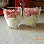 recette Verrine concombre, kiri et jambon