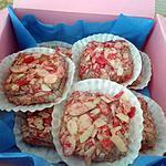 recette macaron carré aux amandes effilées