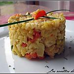 recette Risotto safrané au poulet et aux poivrons rouges