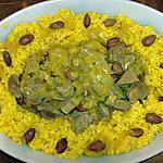 recette Tajine d'agneau au riz safrané et amandes
