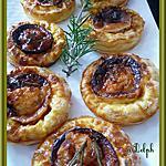 Tartelettes au chèvre, miel et romarin