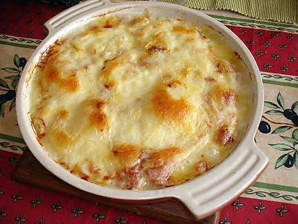 Recette de gratin de crozets au jambon et fromage raclette - Quantite pomme de terre raclette ...
