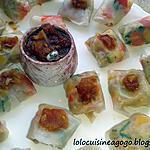 recette Bouchées végétariennes et sauce aigre-douce à l'asiatique